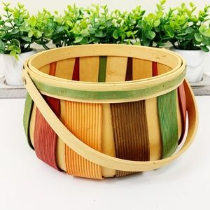 Fall Harvest Decor Accent Holiday Wood Basket
